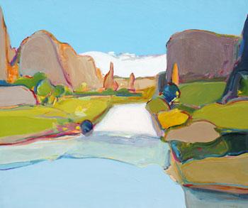 "Gregory Kondos, Canyon de Chelly Arizona , Oil on Canvas, 30"" x 36"""