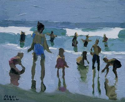 """Peggi Kroll-Roberts, La Jolla Beach, oil, 8"""" x 10"""""""