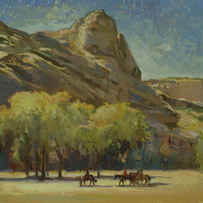 "Francis Livingston, Canyon Journey (Canyon de Chelly), Oil on Panel, 30"" x 30"""