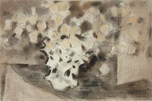 "John Ward Lockwood, Victorian Bouquet, Pastel on Paper, 14"" x 21"""