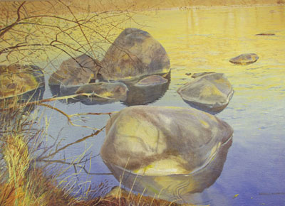 "Merrill Mahaffey, Las Animas, Acrylic on Canvas, 40"" x 60"""