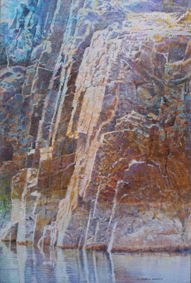 """Merrill Mahaffey, Vishnu Corner, Acrylic on Canvas, 36"""" x 24"""""""
