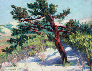 "Lucy Drake Marlow, Arizona Scene, Oil on Board, c. 1918, 13"" x 18"""