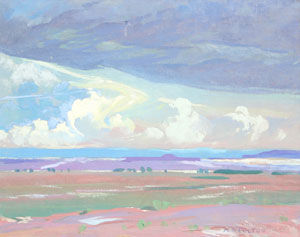 """Mary-Russell Ferrell Colton, Painted Desert, Oil on Canvas, c. 1920, 16"""" x 20"""""""