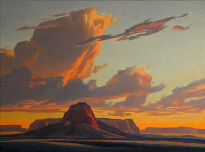 "Ed Mell, Chinle Butte , Oil on Linen, 30"" x 40"""