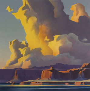"Ed Mell, Towering Clouds, Lake Powell, Lithograph, 25.5"" x 24.5"""