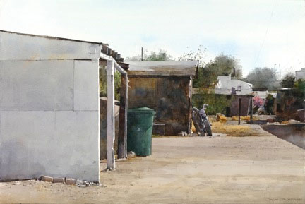 "Dean Mitchell, Guadalupe Reservation Series 1, Watercolor, 20"" x 30"" Margery Soroka Memorial Award, American Watercolor Society 145th Annual Exhibtion, New York 2012"