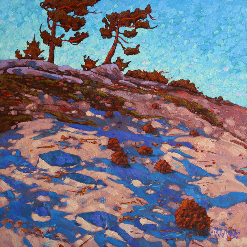 "Dominik Modlinksi, Along the Ridge, Oil on Board, 24"" x 24"""