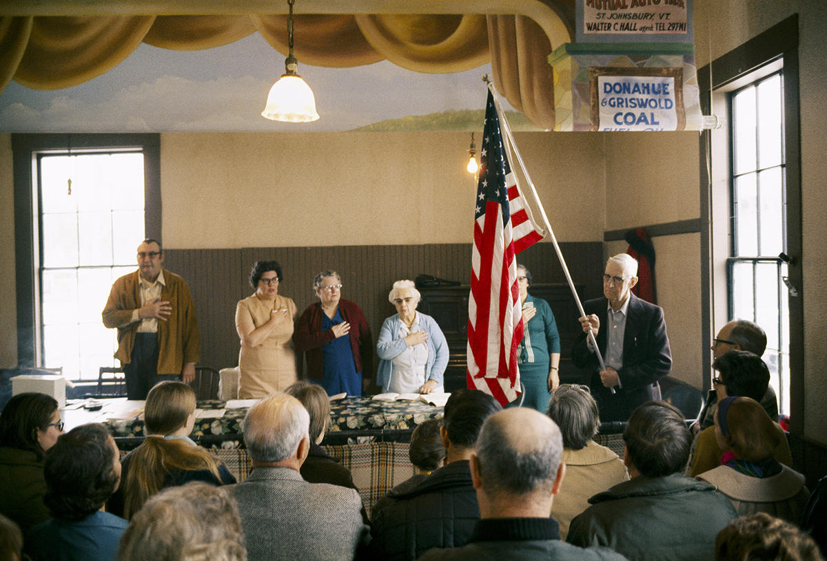 Nathan Benn, Town Meeting, Burke Hollow, 1973