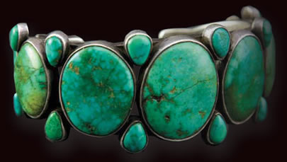 Navajo Turquoise and Silver Bracelet, c. 1910