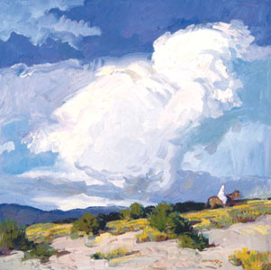 "John Moyers, Monsoon Season, oil, 30"" x 30"""
