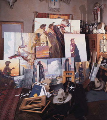 John Moyers' studio