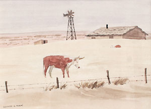 "Leonard Reedy, Desolation, Watercolor, Circa 1930, 8"" x 11"""