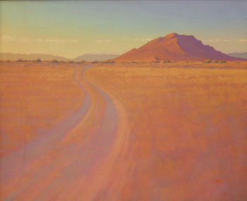"Glenn Renell, Road to Three Sisters, Oil on Panel, 20"" x 24"""
