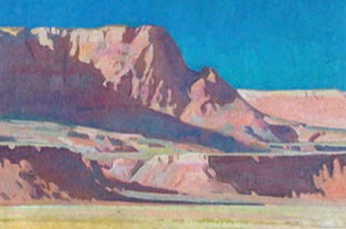 "Ray Roberts, Vermilion Cliffs, oil on canvas, 20""x30"""
