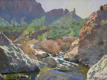 "Ray Roberts, Along the Apache Trail, Oil on Canvas, 30"" x 40"""