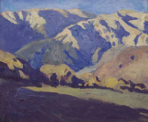 "Ray Roberts, Near Lone Pine, Oil on Panel, 10"" x 12"""