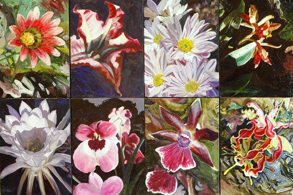 """Moira Marti Geoffrion, """"Floral Quilt"""""""