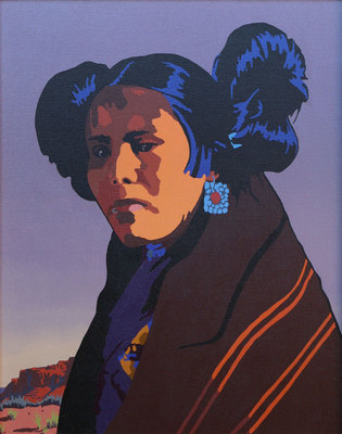 Billy Schenck, Hopi Maiden, Oil on Canvas, 24 by 20 inches