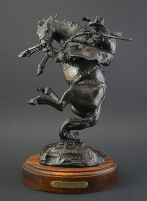 "Bob Scriver, CA, Hang in There Cowboy, Bronze Edition of 24/100, 12.5"" x 10""x 7.5"""