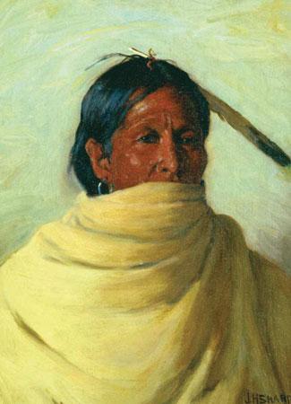 """J. H. Sharp, Standing Deer-Taos, Martinez, oil, 16 x 12"""" PHOTO COURTESY OF FORREST FENN"""