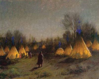 "J. H. Sharp, Squaw Winter-Crow, oil, 30 x 28"" PHOTO COURTESY COEUR D'ALENE ART AUCTION, RENO, NV"