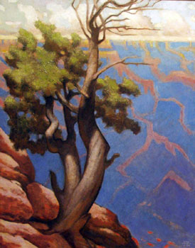 "Gary Ernest Smith, Canyon View, Oil on Linen, 30"" x 24"""