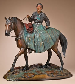 "Star Liana York, To Market, Bronze Edition of 35, 25.5"" x 25"" x 10"""