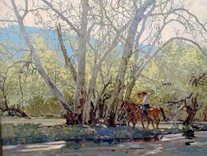 "Ross Stefan, Beyond the Rincon Ridge, Oil on canvas, 28"" x 36"""