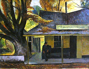 "Charles Surendorf, Mississippi House, Oil on Board, 16"" x 20"""