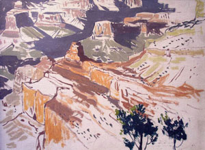 "James Swinnerton, South Rim, Grand Canyon, Oil on Board, Circa 1935, 16"" x 20"""