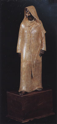 Shirley Thomson-Smith, The Long Wait, Bronze, 56 x 15 x 21