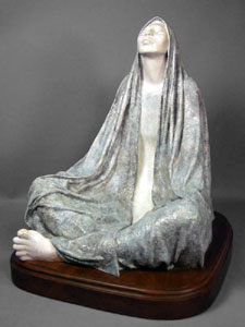 "Shirley Thomson-Smith, Peaceful Meditation, Bronze Edition of 20, 18"" x 14"" x 18"""
