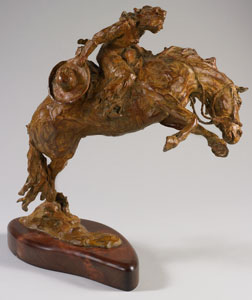 "Jan Mapes, Twist 'n' Shout, Bronze Edition of 15, 16"" x 15"" x 9"""