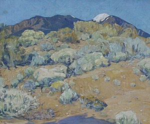 "Walter Ufer, Desert Mountain, Oil on Canvas, 25"" x 30"""