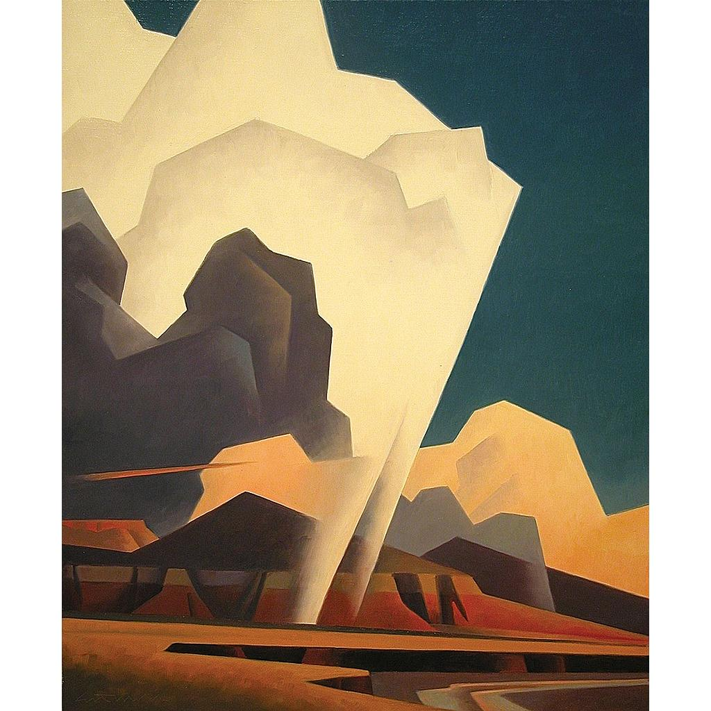 "Ed Mell, Weather Above, oil on linen, 24"" x 20"""