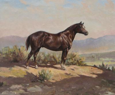 "Olaf Wieghorst, Red Beaver, Oil on Canvas, c. 1952-53, 20"" x 24"""