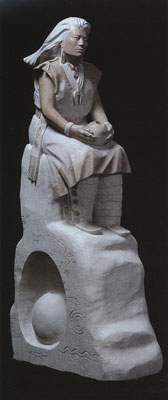 Oreland Joe, Winds of the Night Chant, Tennessee marble, 52 x 12 x 25