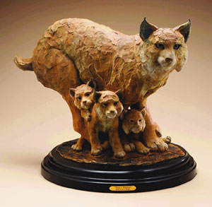 "Star Liana York, Paws a Plenty, Bronze Edition of 35, 30"" x 19"" x 10"""