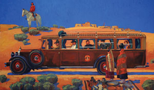 "Dennis Ziemienski, Harvey Car, Oil on Canvas 24"" x 40"""