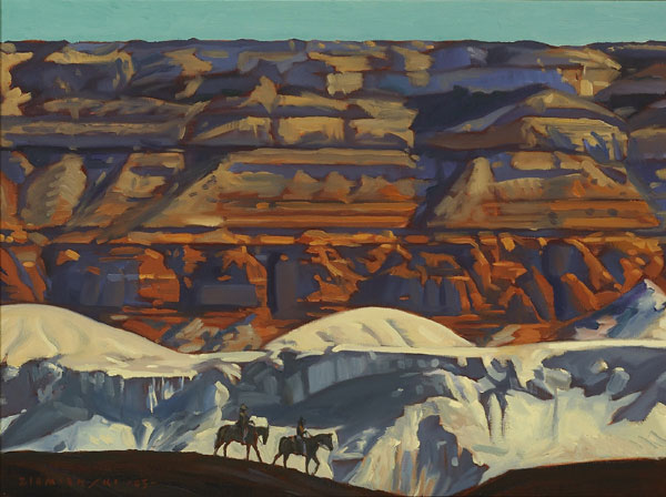 "Dennis Ziemienski, Navajo Sandstone, Oil on Canvas, 48"" x 60"""